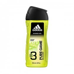 Adidas Pure Game Relaxing 3 In 1 Body, Hair And Face Shower Gel, 400 ml