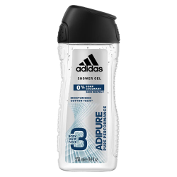 Adidas Adipure Pure Performance Moisturizing Cotton Tech 3 in 1 Body, Hair & Face Shower Gel 400 ml