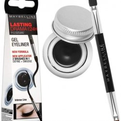 Maybelline New York Lasting Drama 24H Gel Eyeliner, 01 Noir Black