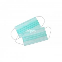 Surgical Disposable Elastic Cotton Face Mask (Pack of 50 Pieces)
